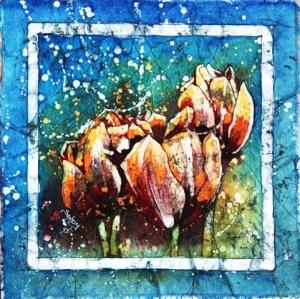 Aquarelle sur papier murier 24x24cm