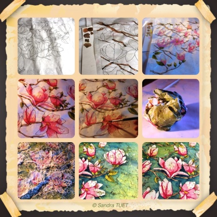 Mosaïque magnolia