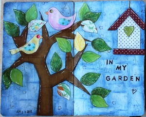 "Art Journal Layout ""In my garden"""