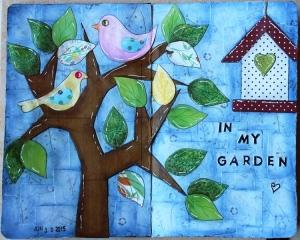 """Art Journal Layout """"In my garden"""""""