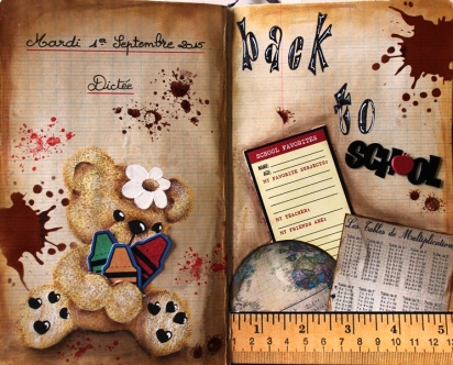 Art Journal Layout Rentree des classes / Back to school
