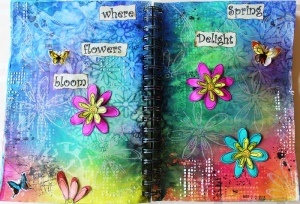 Art Journal Layout : Spring Delight