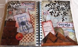 AJ layout : Dessine-moi un voyage... / Draw me a trip