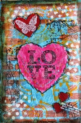 "Art Journal layout ""Love"""