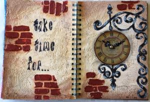 "Art Journal Layout ""Take time for..."""