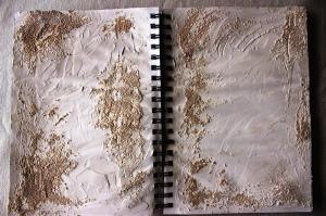 Pose du mortier sable et de la modeling paste