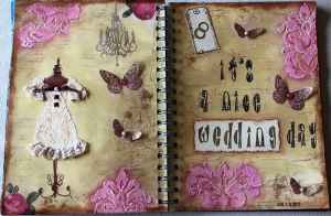 Art Journal Layout : It's a nice wedding day