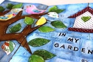 Art journal Layout In my Garden