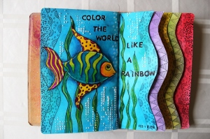 Art Journal Like a Rainbow